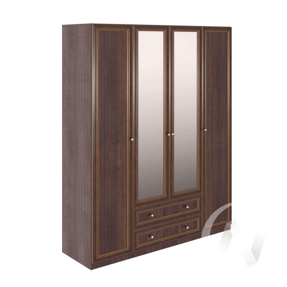 Шкаф 4 двери М03 Спальня Беатрис (орех гепланкт)