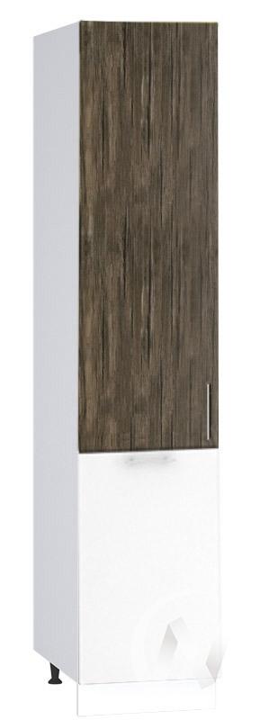 "(1)Кухня ""Норден"": Шкаф пенал 400, ШП 400 (старое дерево/белый глянец/корпус белый)"