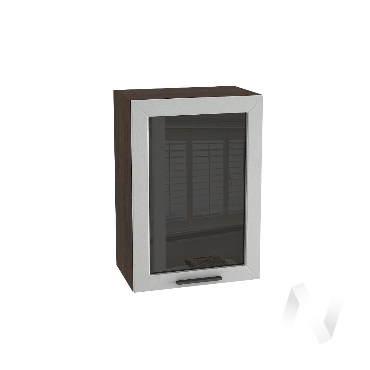 """Кухня """"Глетчер"""": Шкаф верхний со стеклом 500, ШВС 500 (Гейнсборо Силк/корпус венге)"""