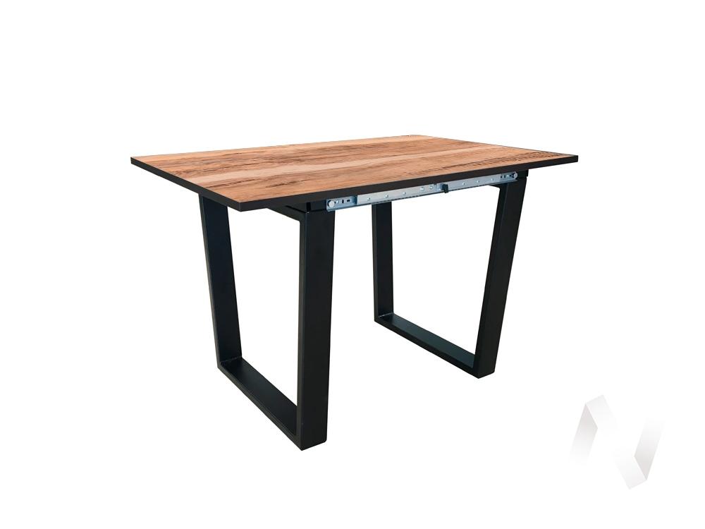 Стол раздвижной Flint 2 (венге/индийское дерево/металлокаркас черный)