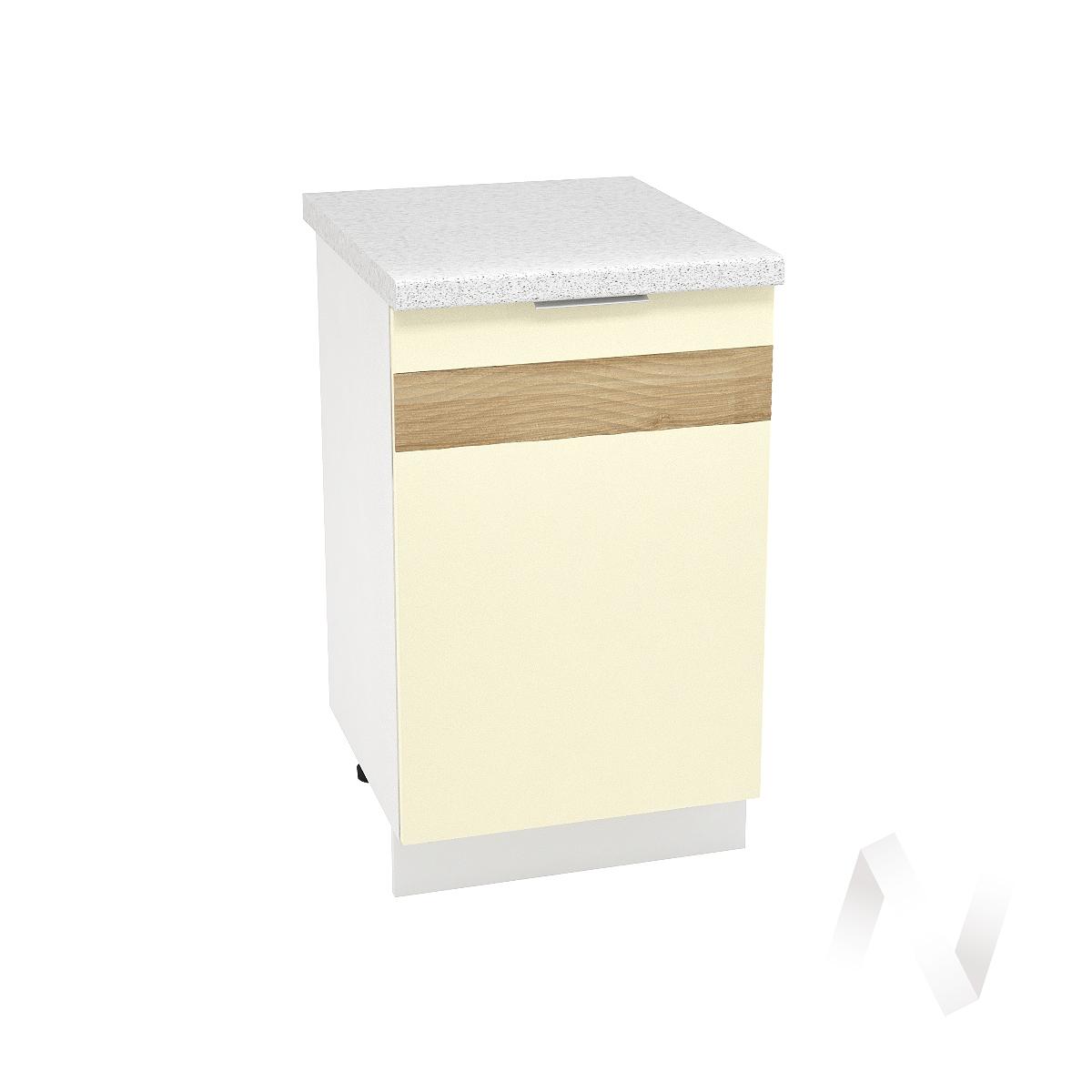 "Кухня ""Терра"": Шкаф нижний левый 500, ШН 500 (ваниль софт/корпус белый)"