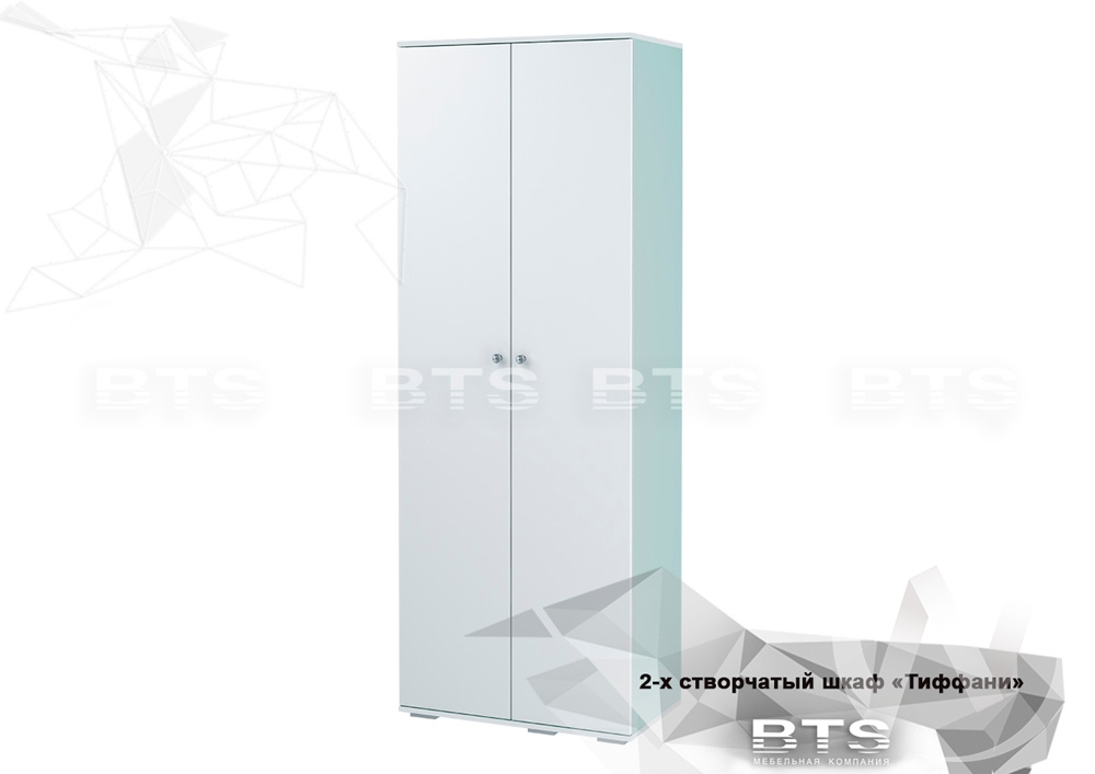 Шкаф 2-х створчатый ШК-09 Тифани (белый/кенди)   в Томске — интернет магазин МИРА-мебель