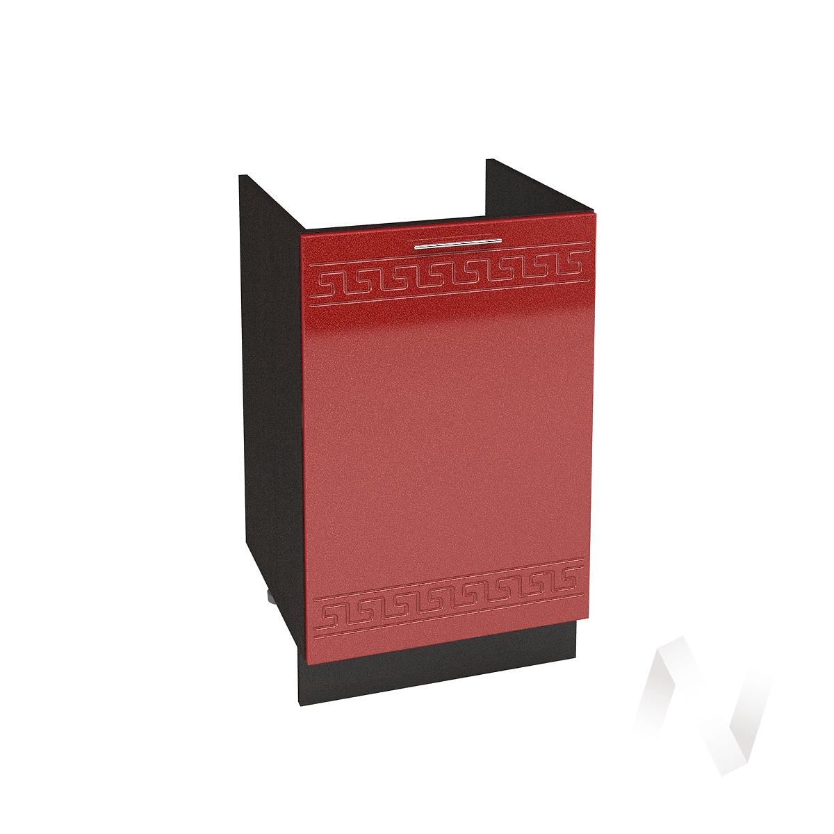 """Кухня """"Греция"""": Шкаф нижний под мойку 500, ШНМ 500 (гранатовый металлик/корпус венге)"""