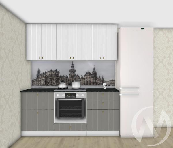 Кухня Прованс серый/белое дерево 1,8№3