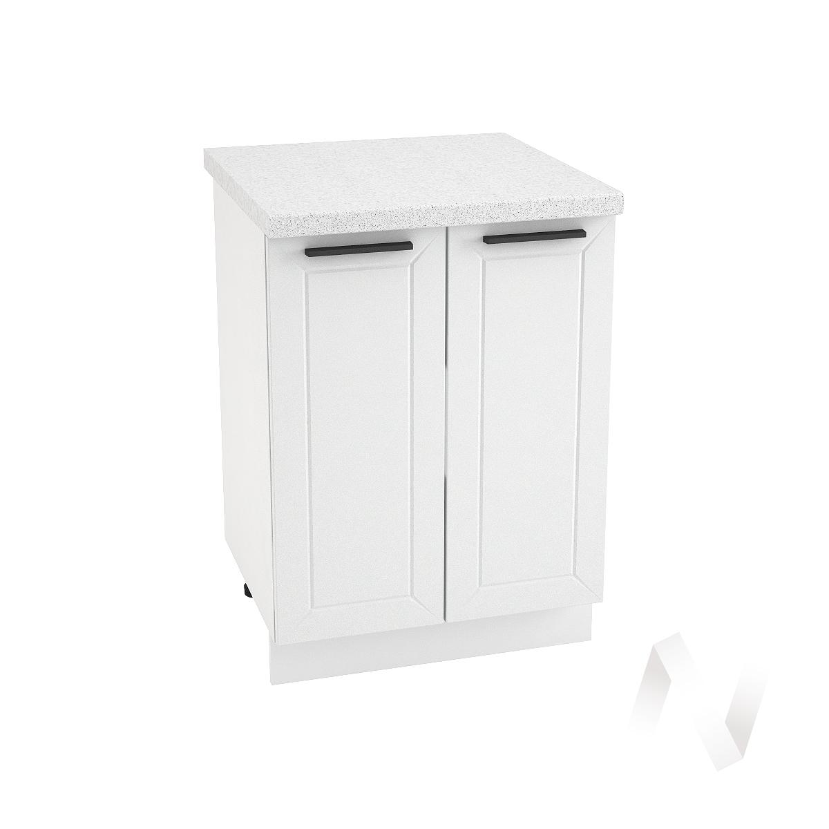 """Кухня """"Глетчер"""": Шкаф нижний 600, ШН 600 (Айленд Силк/корпус белый)"""