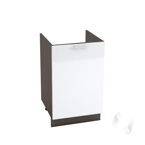 "Кухня ""Валерия-М"": Шкаф нижний под мойку 500, ШНМ 500 (белый металлик/корпус венге)"