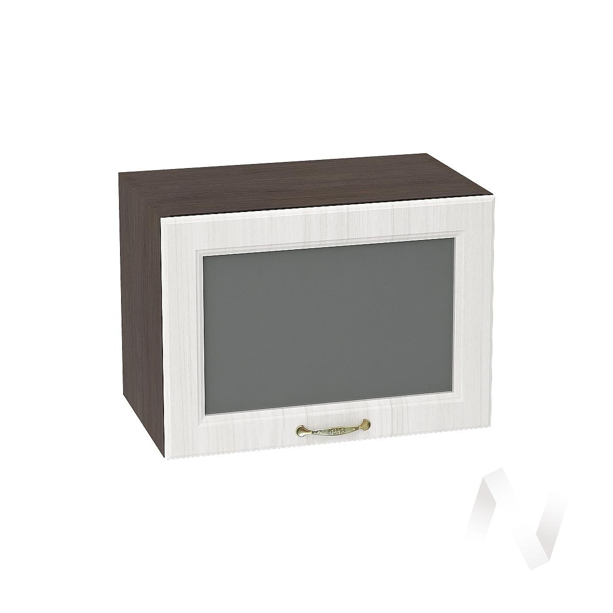 """Кухня """"Виктория"""": Шкаф верхний горизонтальный со стеклом 500, ШВГС 500 (корпус венге)"""