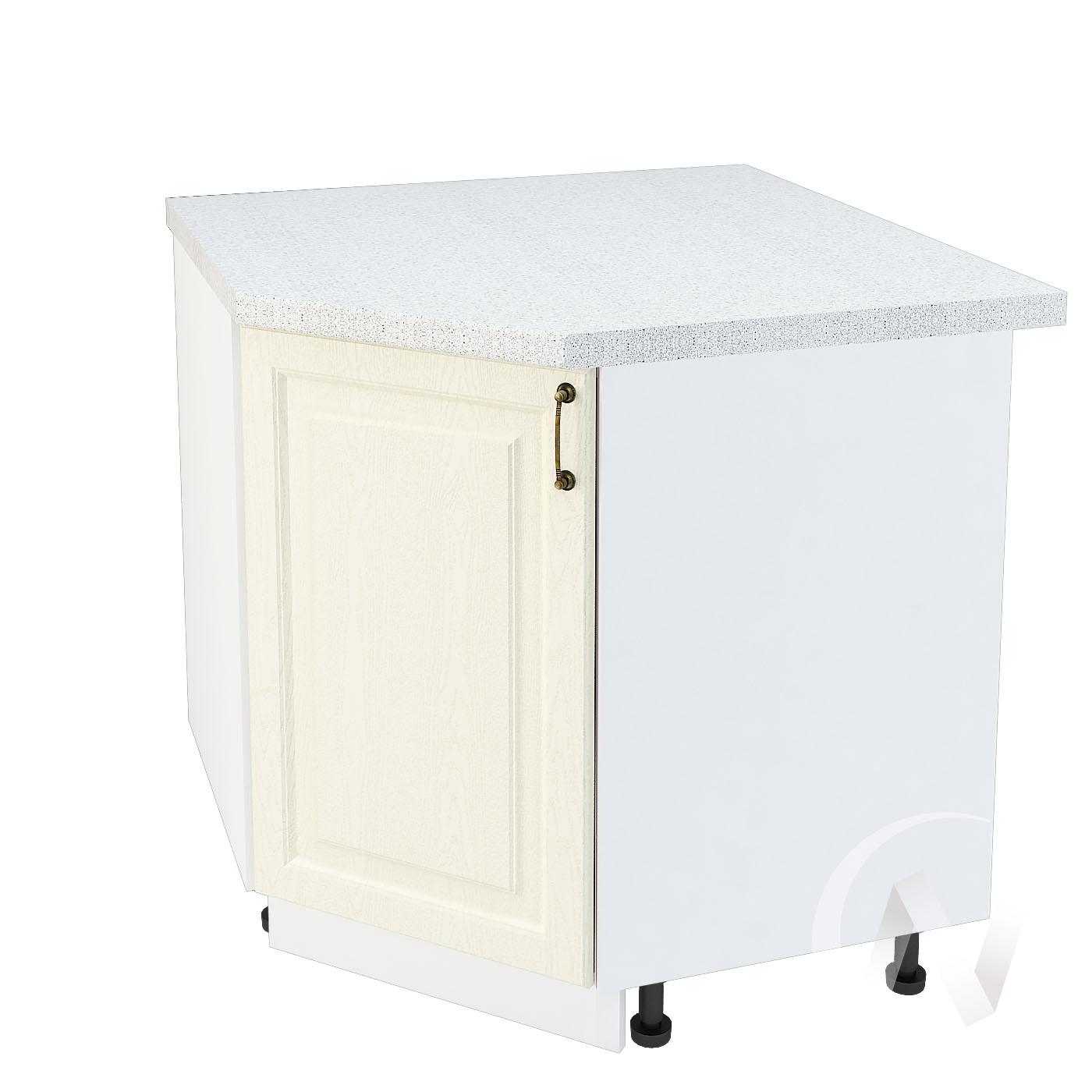 """Кухня """"Ницца"""": Шкаф нижний угловой 890, ШНУ 890 (Крем/корпус белый)"""