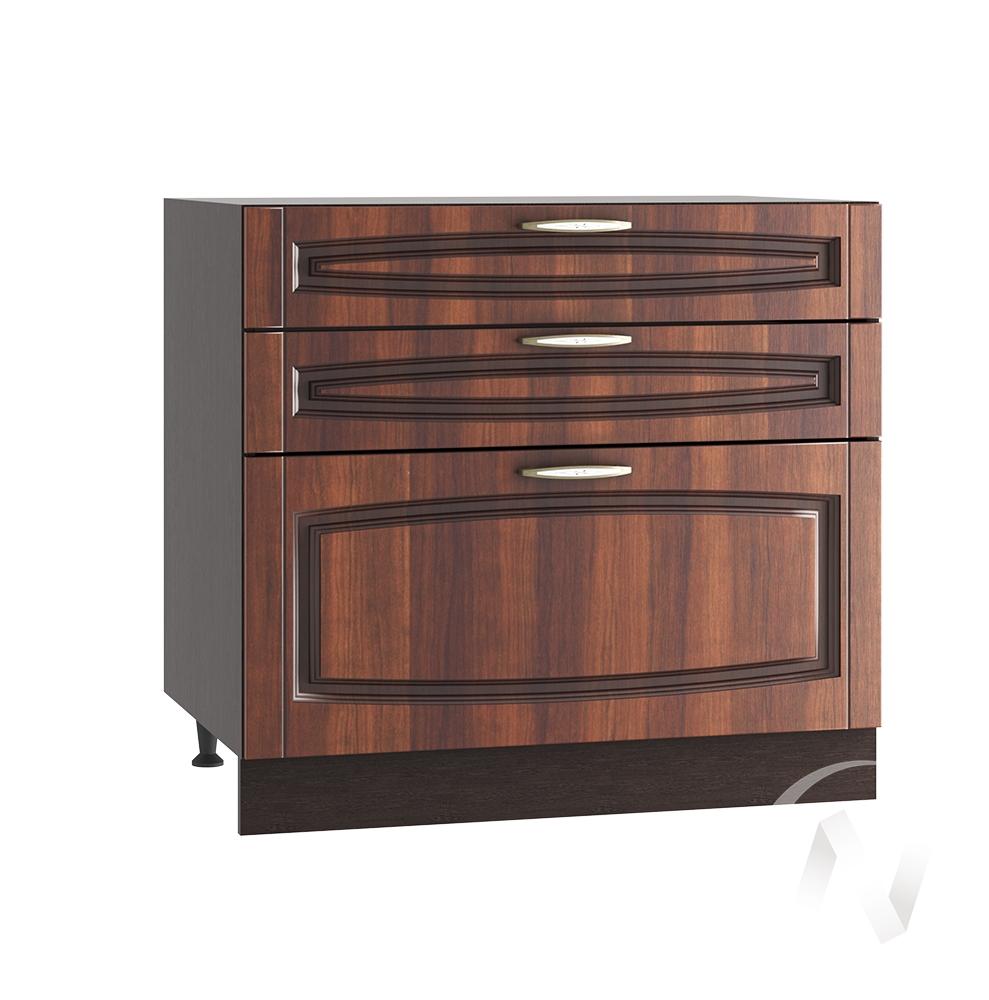 """Кухня """"Неаполь"""": Шкаф нижний с 3-мя ящиками 800, ШН3Я 800 (Италия/корпус венге)"""