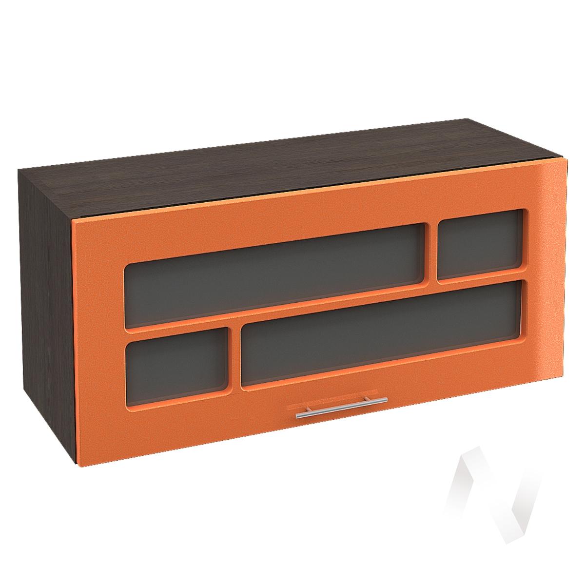 """Кухня """"Техно"""": Шкаф верхний горизонтальный со стеклом 800, ШВГС 800 (корпус венге)"""