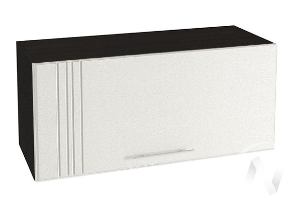 "Кухня ""Струна"": Шкаф верхний горизонтальный 800, ШВГ 800 (белый металлик/корпус венге)"