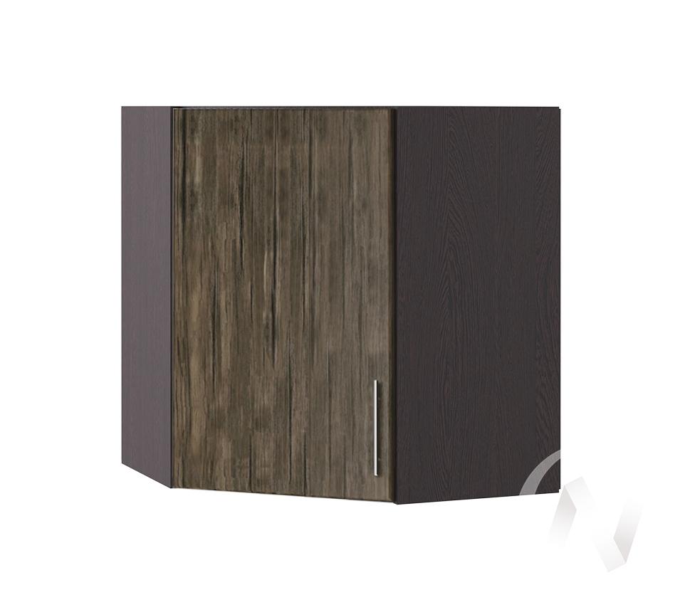"""Кухня """"Норден"""": Шкаф верхний угловой 590, ШВУ 590 (старое дерево/корпус венге)"""