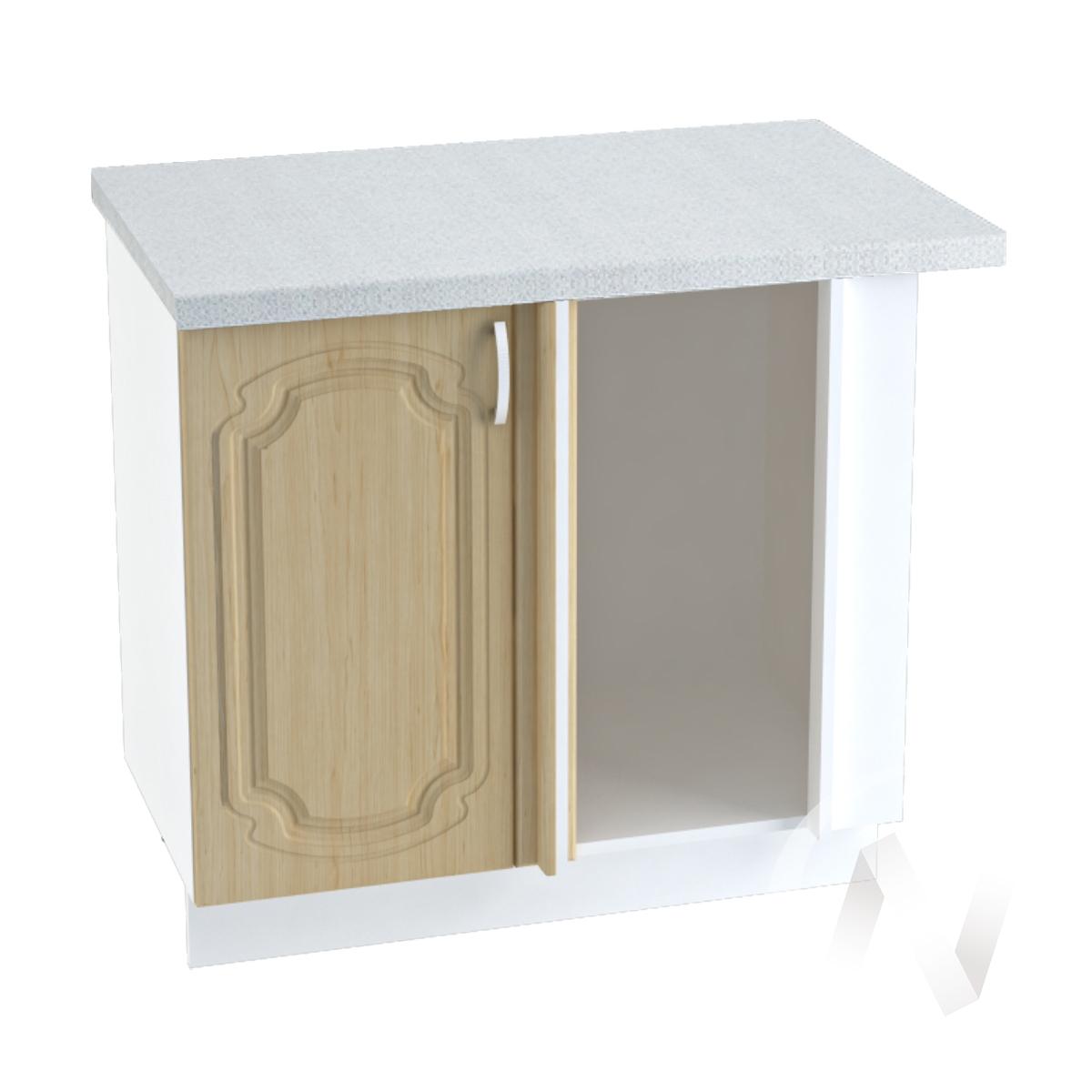 "Кухня ""Настя"": Шкаф нижний угловой 990М, ШНУ 990М (Береза/корпус белый)"