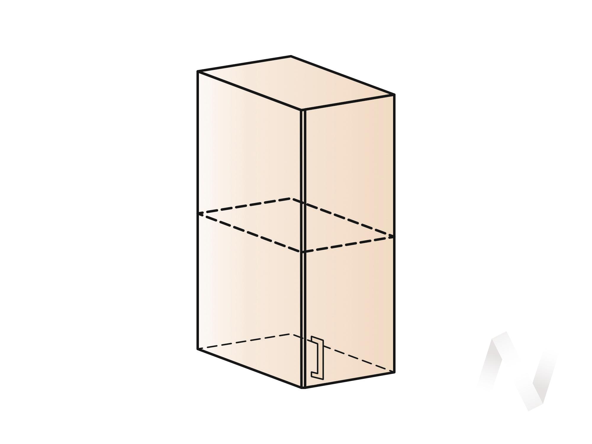 """Кухня """"Люкс"""": Шкаф верхний 300, ШВ 300 (Шелк жемчуг/корпус белый) в Томске — авторская мебель Экостиль"""
