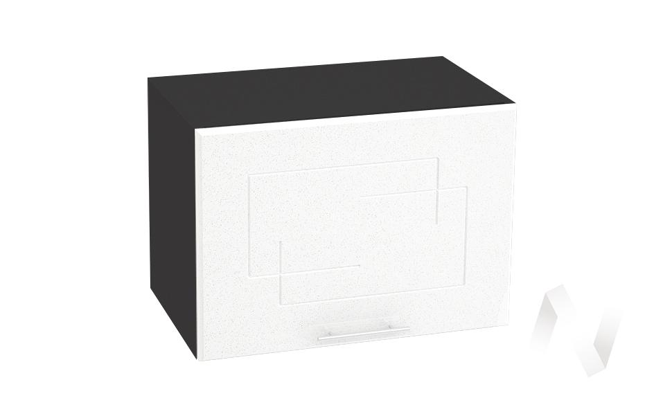 """Кухня """"Вега"""": Шкаф верхний горизонтальный 500, ШВГ 500 (белый металлик/корпус венге)"""