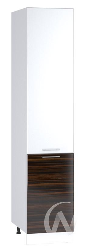 """Кухня """"Норден"""": Шкаф пенал 400, ШП 400 (эбен/белый металлик/корпус белый)"""