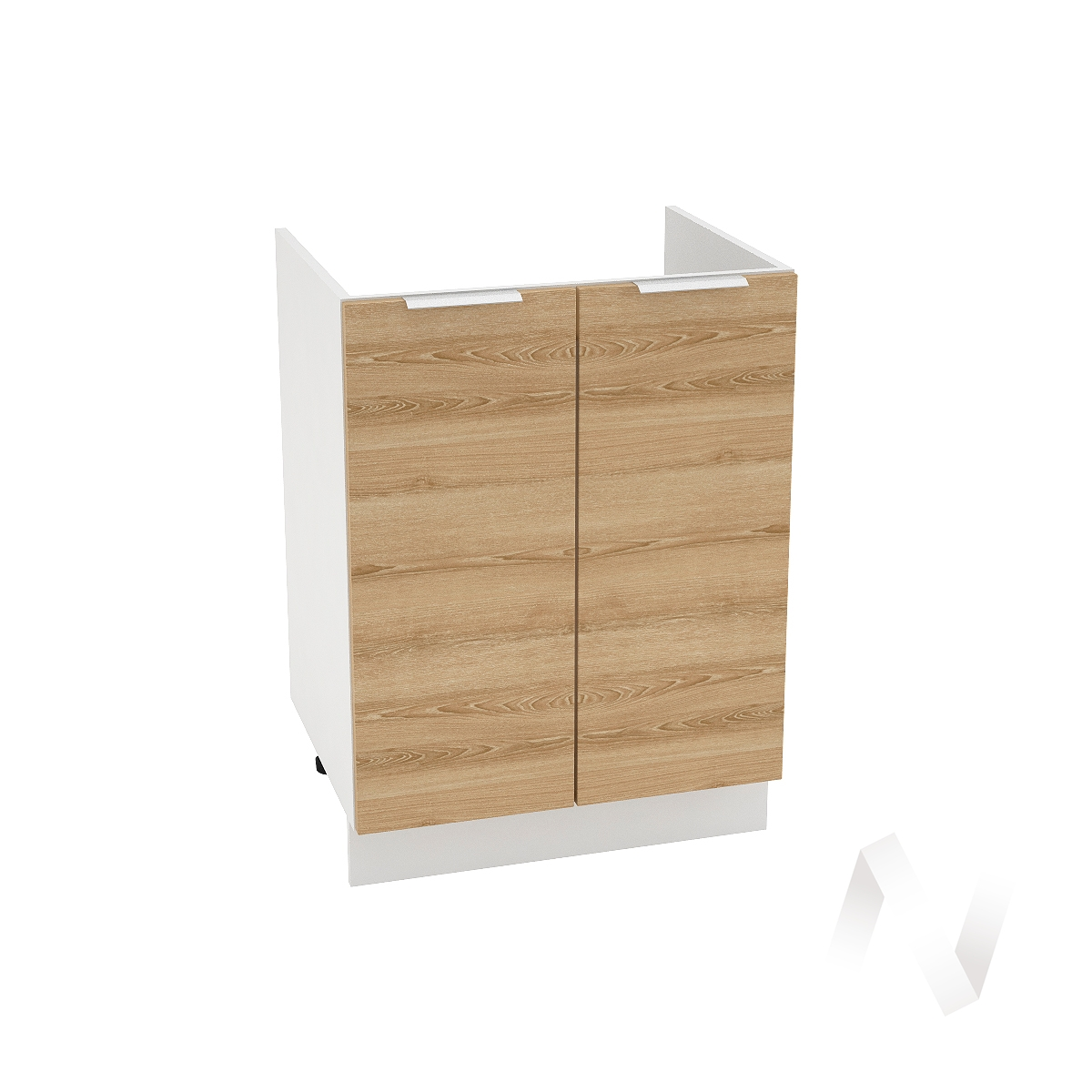"""Кухня """"Терра"""": Шкаф нижний под мойку 600, ШНМ 600 (ель карпатская/корпус белый)"""