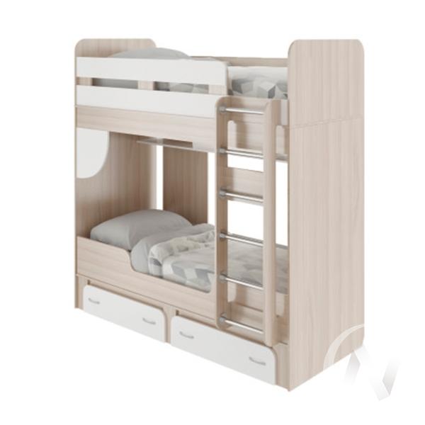 Кровать двухъярусная М25 Остин (ясень шимо светлый/белый)