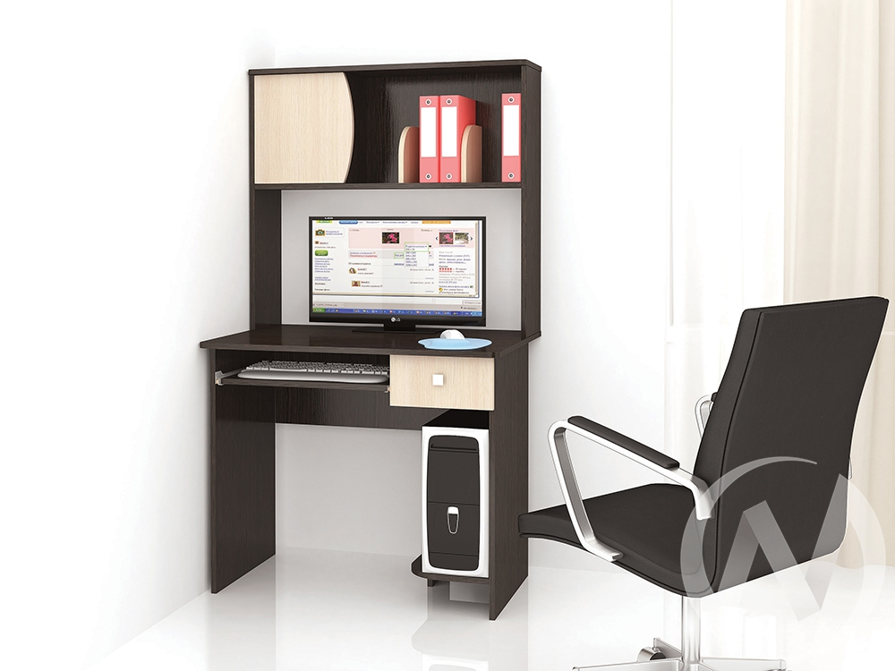 Стол компьютерный Грета-4 (венге/дуб молочный)