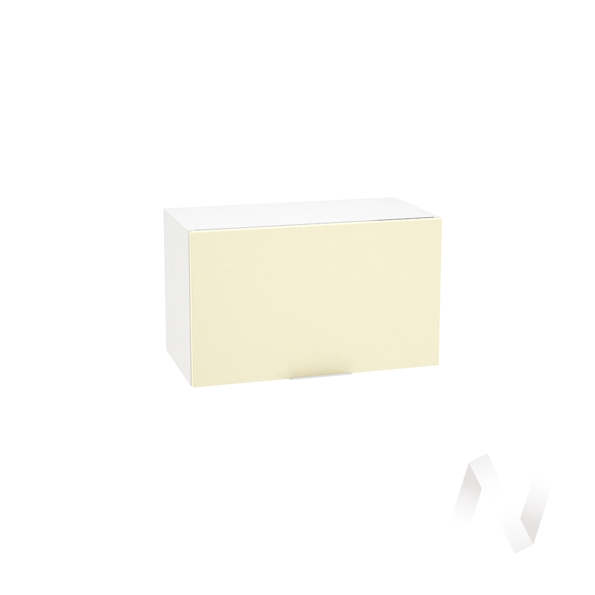 """Кухня """"Терра"""": Шкаф верхний горизонтальный 600, ШВГ 600 (ваниль софт/корпус белый)"""