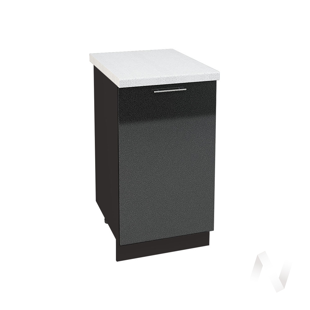 """Кухня """"Валерия-М"""": Шкаф нижний 450, ШН 450 (черный металлик/корпус венге)"""