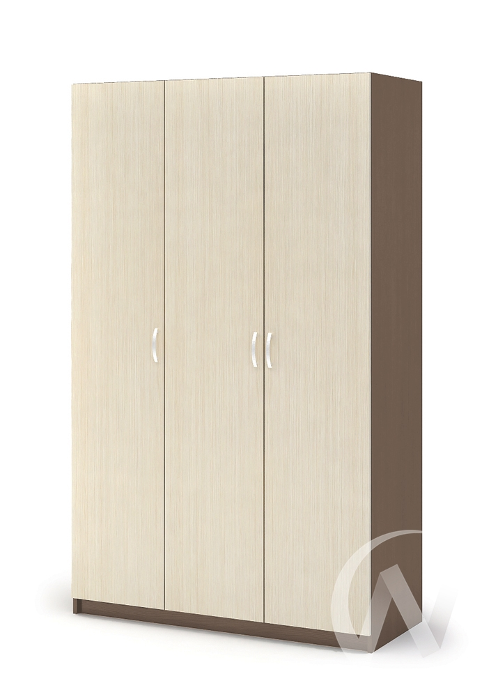 Шкаф 3-х створчатый ШК 557 Спальня Бася (шимо темный/шимо светлый)