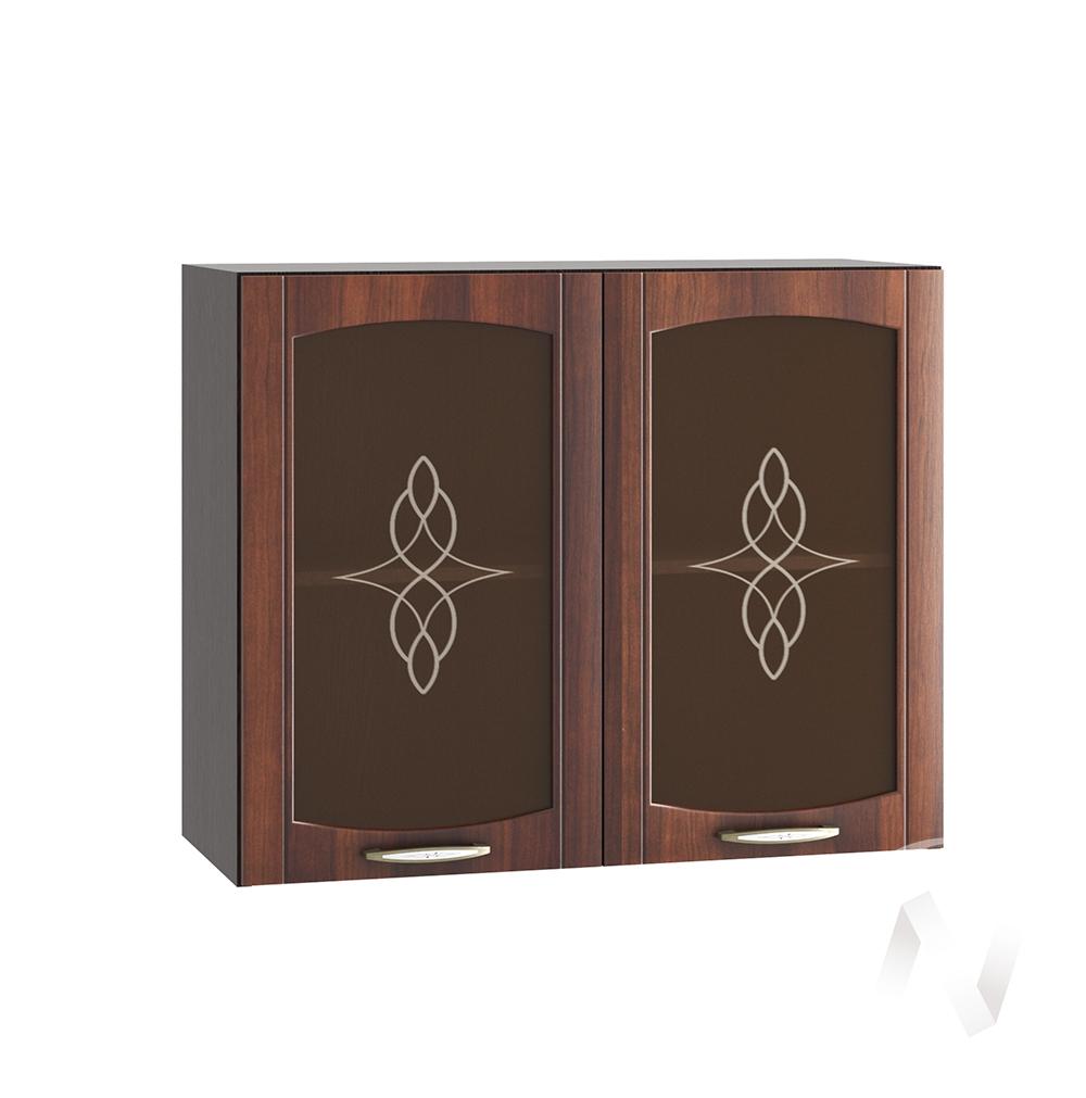 """Кухня """"Неаполь"""": Шкаф верхний со стеклом 800, ШВС 800 (Италия/корпус венге)"""