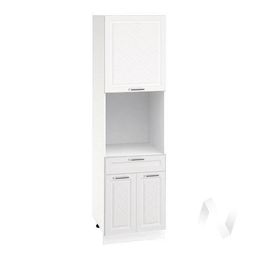 """Кухня """"Вена"""": Шкаф пенал с ящиком 600, ШП1Я 600 (корпус белый)"""