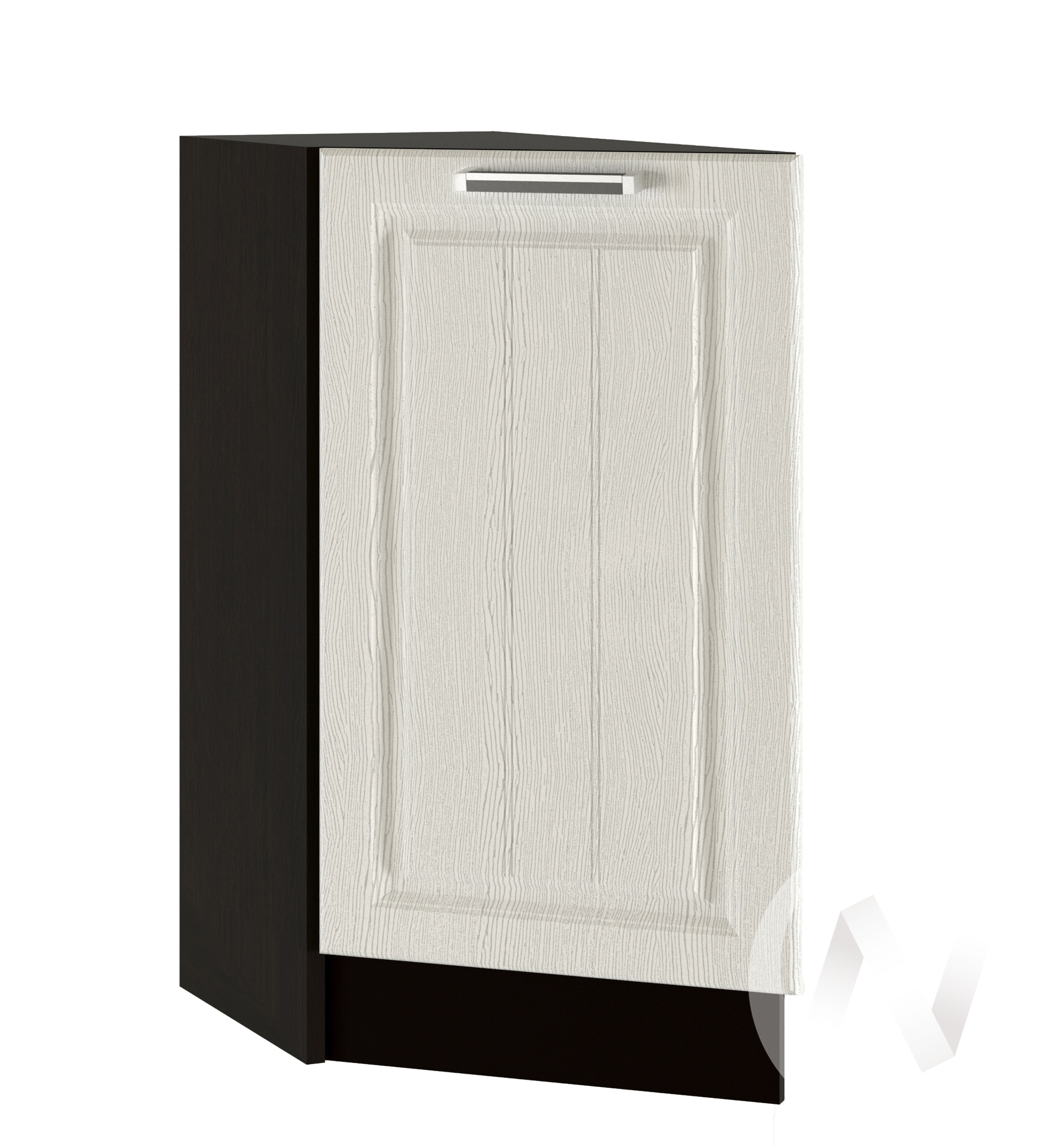 """Кухня """"Прага"""": Шкаф нижний торцевой 300, ШНТ 300 (белое дерево/корпус венге)"""
