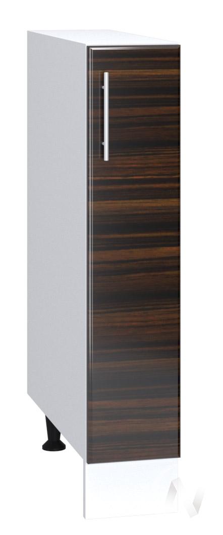 """Кухня """"Норден"""": Шкаф нижний бутылочница 150, ШНБ 150 (эбен/корпус белый)"""