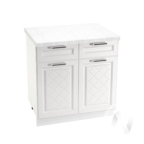 """Кухня """"Вена"""": Шкаф нижний с ящиками 800, ШН1Я 800 (корпус белый)"""