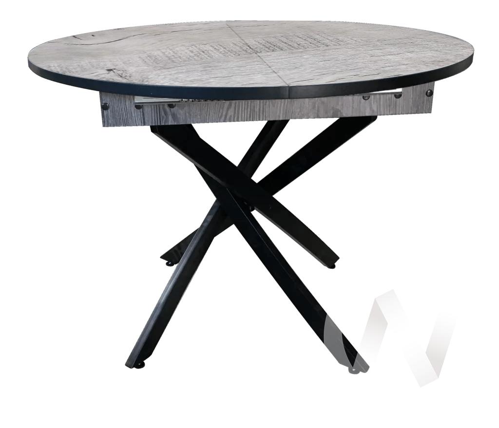 Стол раздвижной Норд 4 (черный/дуб аляска/металлокаркас черный)
