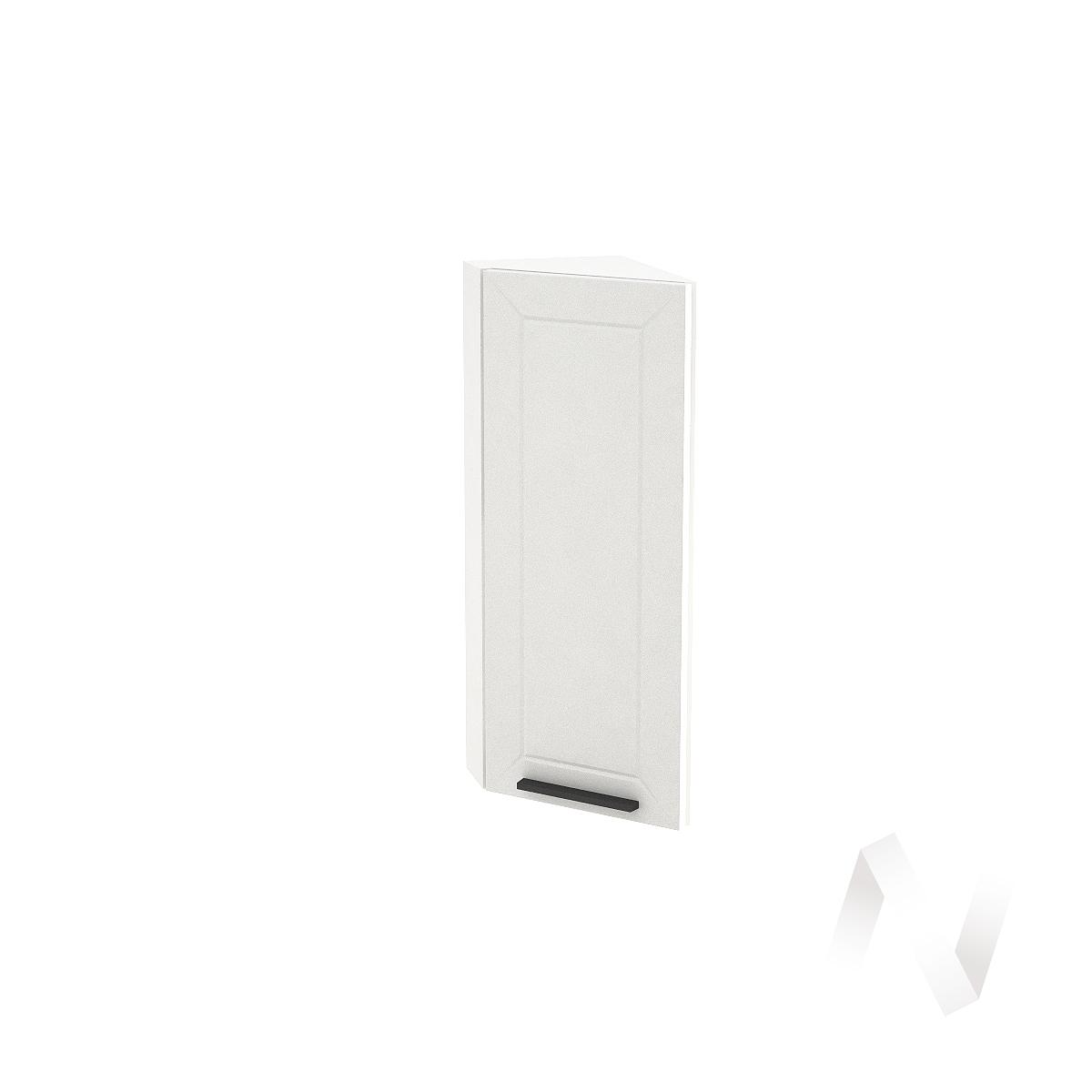 """Кухня """"Глетчер"""": Шкаф верхний торцевой 224, ШВТ 224 (Айленд Силк/корпус белый)"""