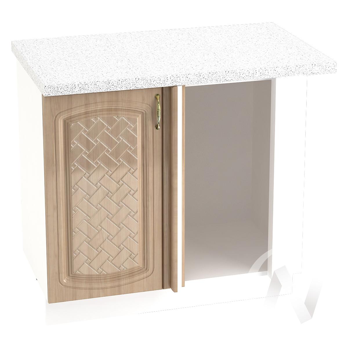 "Кухня ""Сити"": Шкаф нижний угловой 990М, ШНУ 990М (корпус белый)"