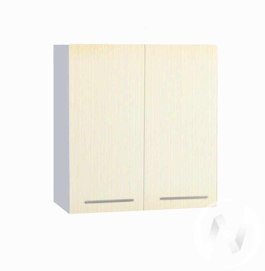 """Кухня """"Люкс"""": Шкаф верхний 600, ШВ 600 (Шелк жемчуг/корпус белый)"""