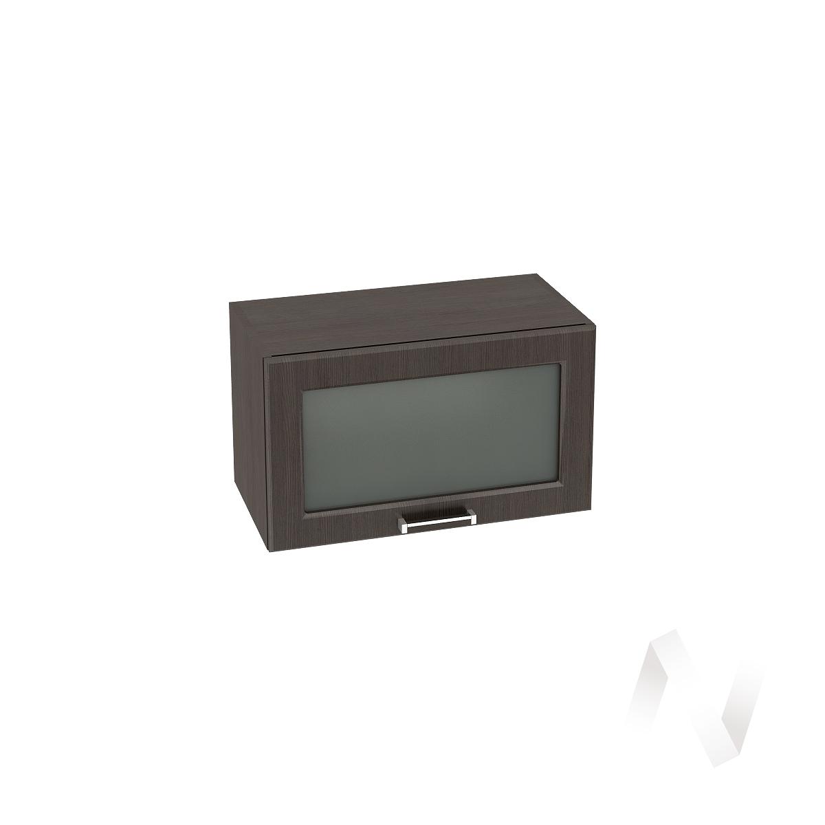 """Кухня """"Прага"""": Шкаф верхний горизонтальный со стеклом 600, ШВГС 600 (венге/корпус венге)"""