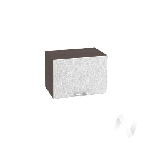 """Кухня """"Валерия-М"""": Шкаф верхний горизонтальный 500, ШВГ 500 (дождь серый/корпус венге)"""