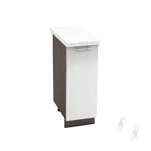 "Кухня ""Валерия-М"": Шкаф нижний 300, ШН 300 (Страйп белый/корпус венге)"