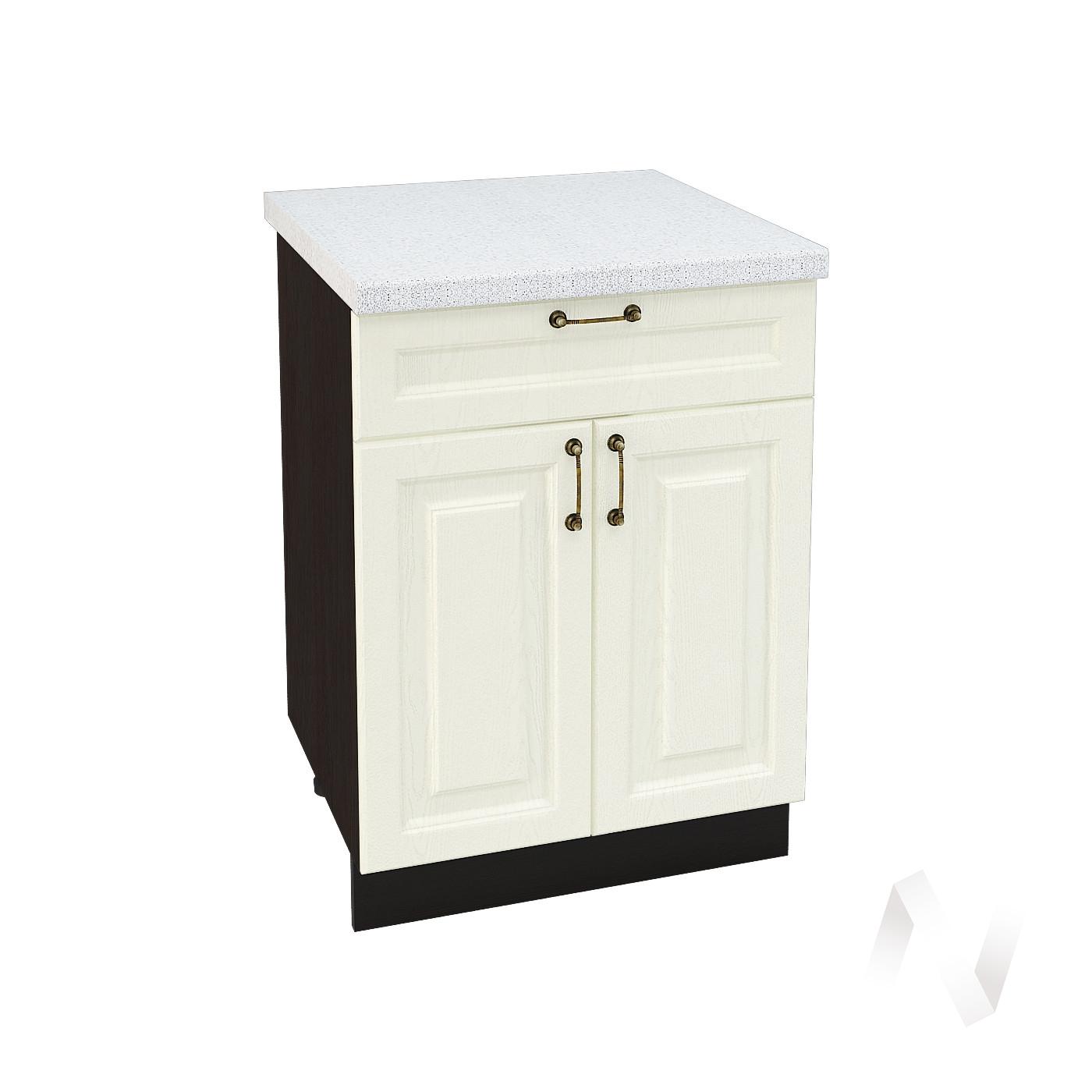 """Кухня """"Ницца"""": Шкаф нижний с ящиком 600, ШН1Я 600 М (Крем/корпус венге)"""