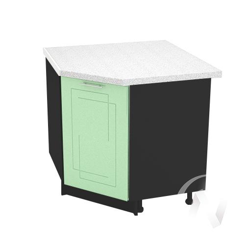 """Кухня """"Вега"""": Шкаф нижний угловой 890, ШНУ 890 (салатовый металлик/корпус венге)"""