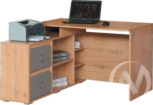 Скай М2 Стол компьютерный угловой левый (дуб бунратти/графит)