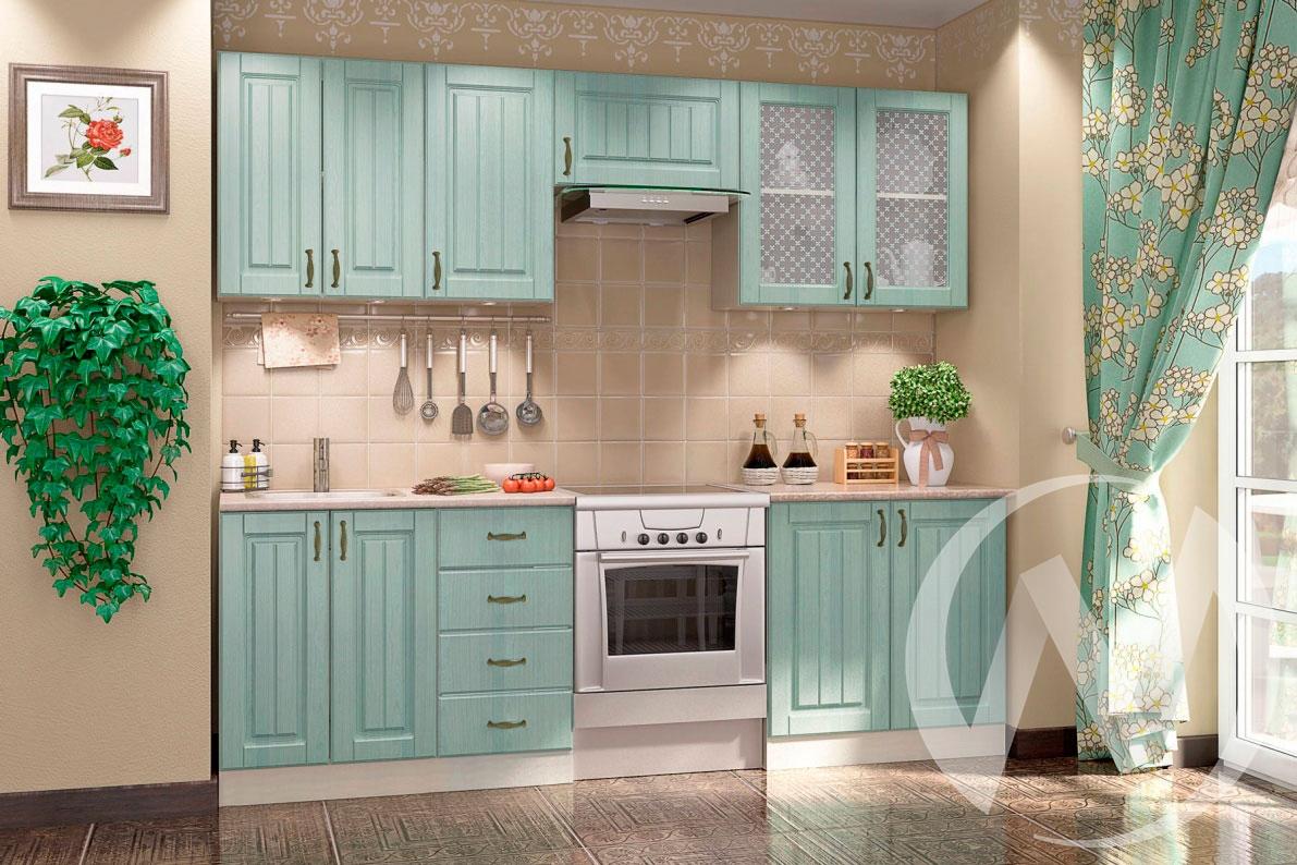 """Кухня """"Прованс"""": Ясень зелёный (корпус белый)"""