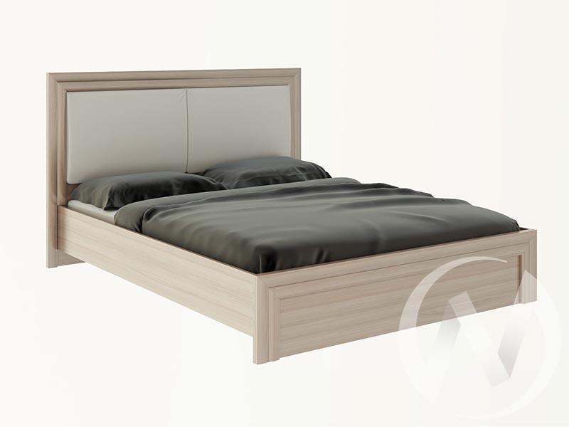 Кровать 1,6 М31 Глэдис (ясень шимо светлый/белый)