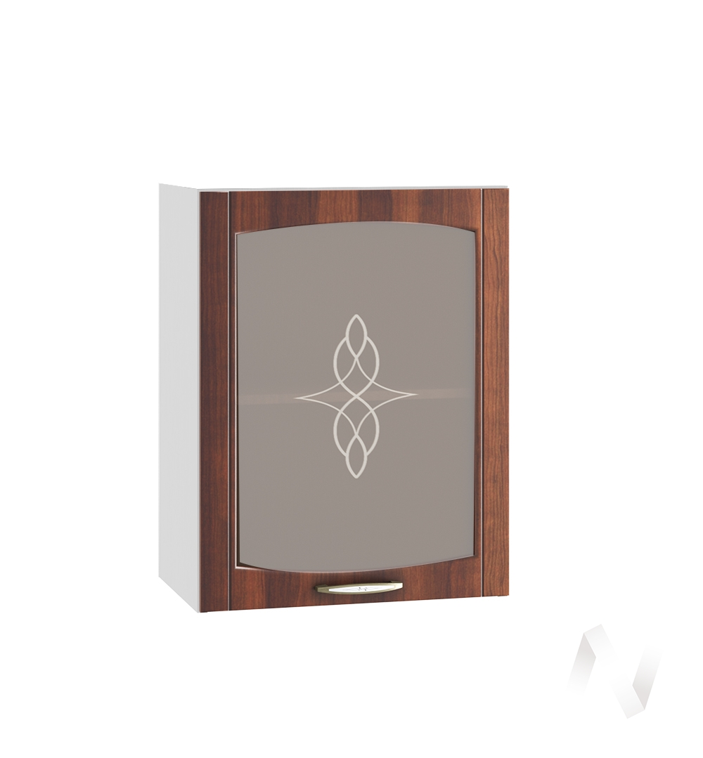 """Кухня """"Неаполь"""": Шкаф верхний со стеклом 500, ШВС 500 (Италия/корпус белый)"""