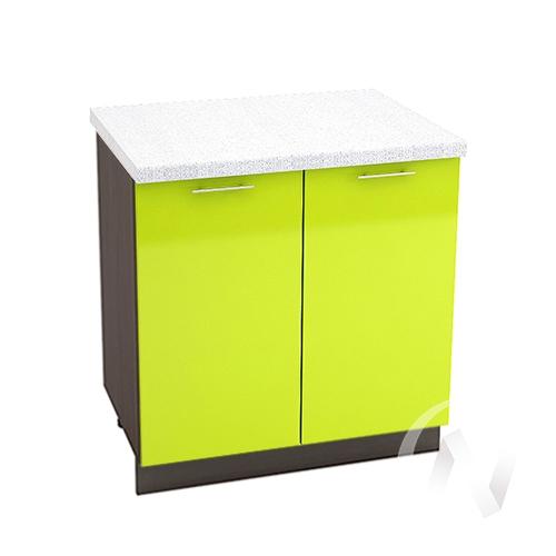 "Кухня ""Валерия-М"": Шкаф нижний 800, ШН 800 (лайм глянец/корпус венге)"