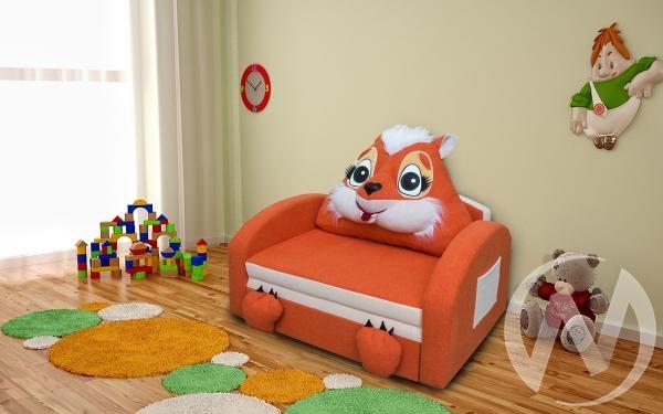 Лисичка диван детский