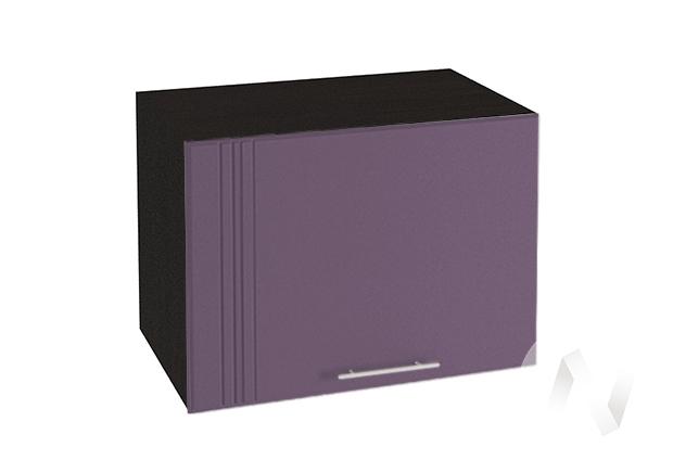 """Кухня """"Струна"""": Шкаф верхний горизонтальный 500, ШВГ 500 (фиолетовый металлик/корпус венге)"""
