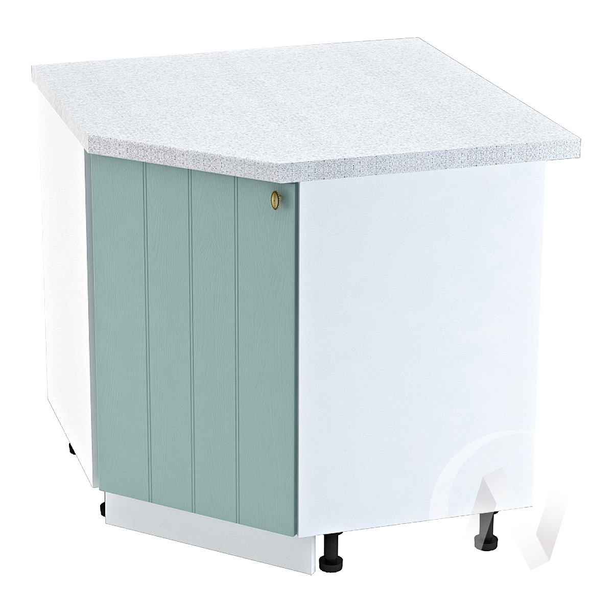 """Кухня """"Прованс"""": Шкаф нижний угловой 890, ШНУ 890 (голубой/корпус белый)"""