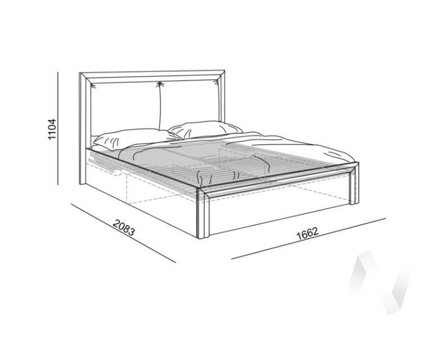Глэдис М32 Кровать 1,6 с подъем. мех. и мягкой частью (ясень шимо светлый/белый)  в Томске — интернет магазин МИРА-мебель
