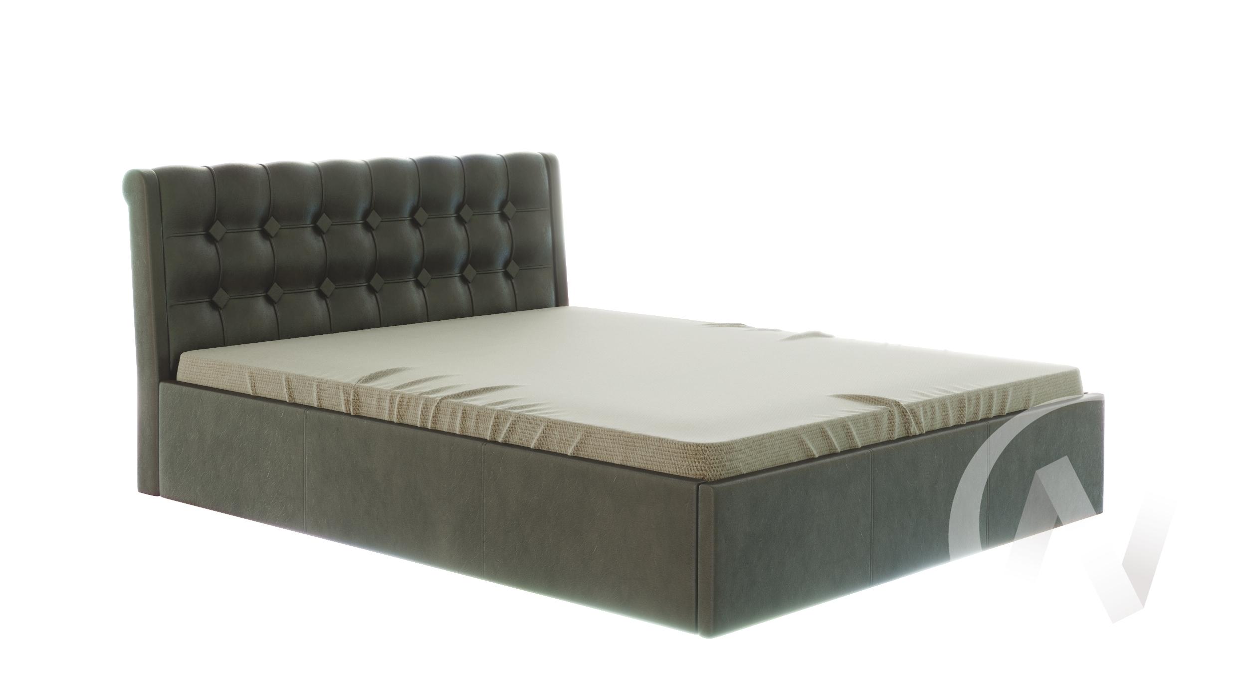 Кровать Лагуна 1,6 с подъемным механизмом (коричневый)